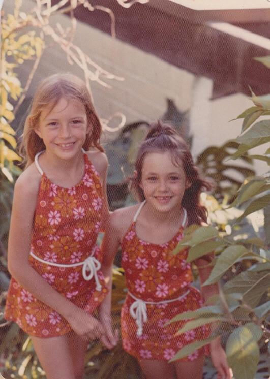 Belinda and Kate as Children